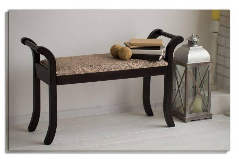 Мягкие скамейки: со спинкой и мягким сиденьем, садовые лавки, в прихожую (коридор) с ящиком для хранения и в спальню, небольшие и удобные модели