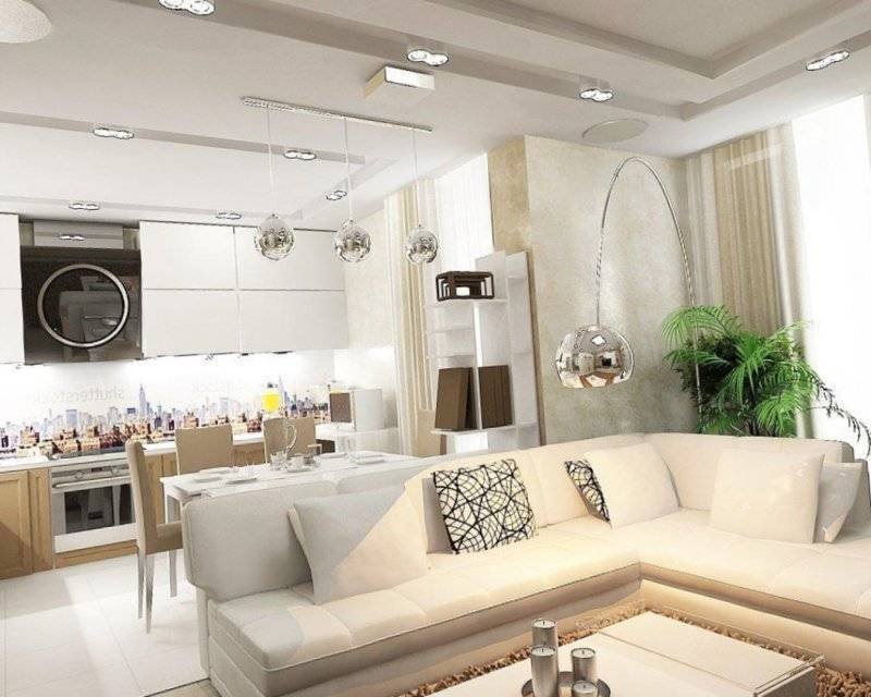 Дизайн кухни, совмещенной с залом: фото и 5 приемов обустройства
