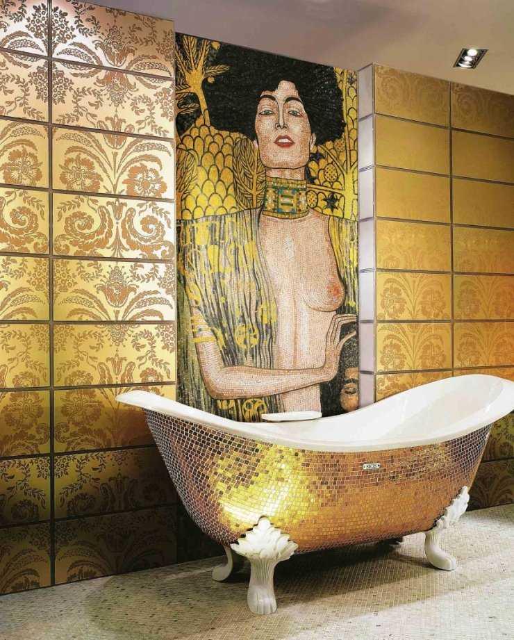 Мозаика в ванной комнате: как выглядит, дизайн для маленькой с плиткой, рисунки в санузле, из камня в интерьере, фото, видео