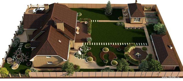 Планировка участка 15 соток прямоугольной формы - схема вариантов земельного планирования