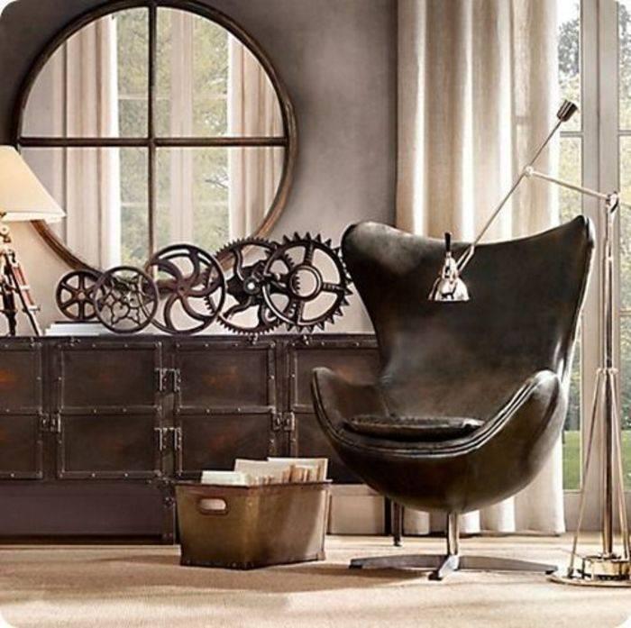 Стимпанк интерьер (38 фото): фантастическая мебель и декор