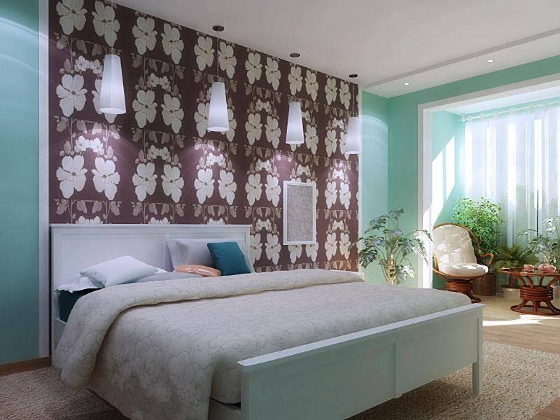 Сочетание обоев в интерьере спальни: особенности комбинирования, подбор цветов и мотивов