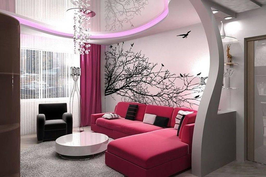 Подвесные потолки из гипсокартона (7 фото) в зале: дизайн потолков