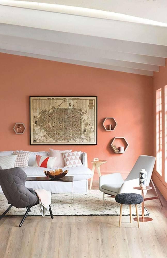 Интересные примеры выбора цвета покраски стен в зале