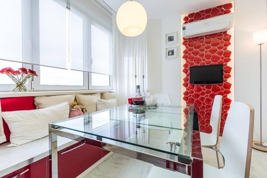 Дизайн красной кухни: особенности оформления яркими цветами