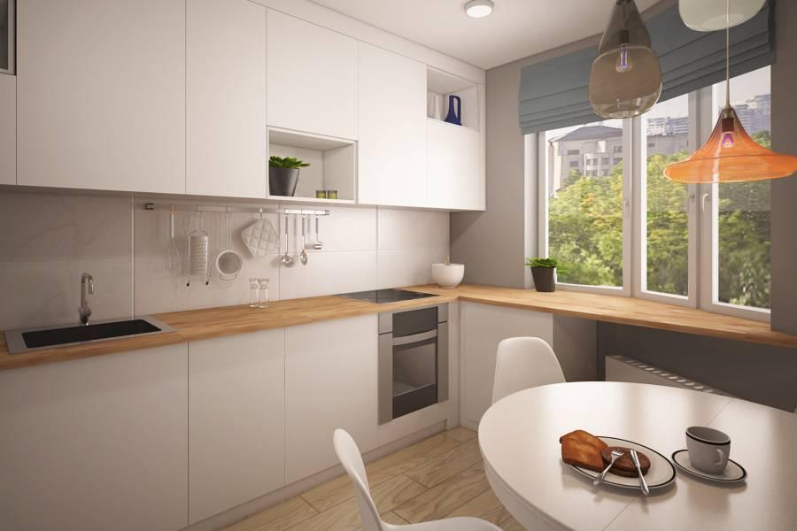 Планировка кухни в доме серии п-44