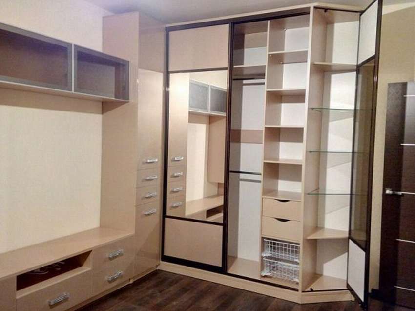 70 современных шкафов-купе для спальни