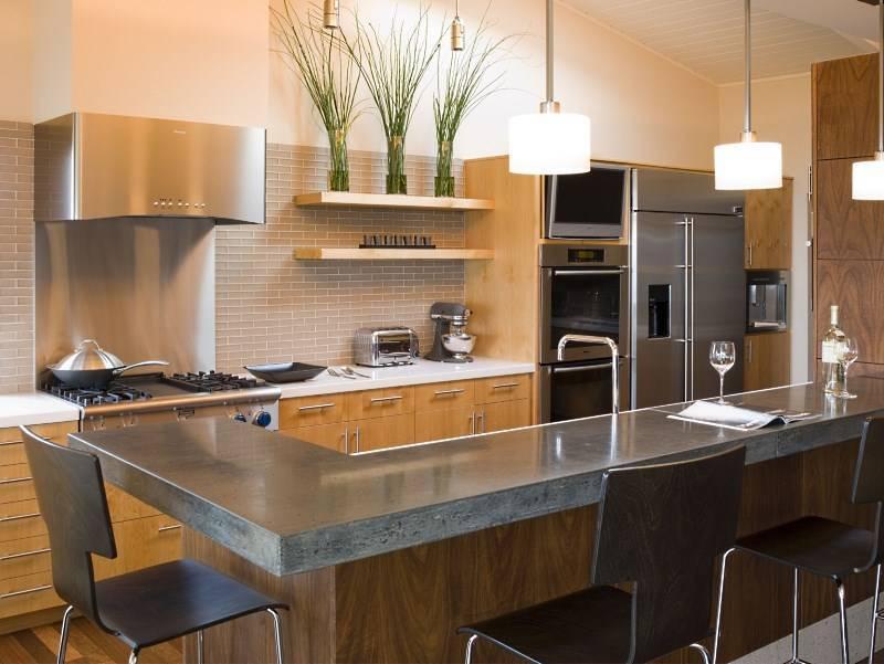 Дизайн кухни с барной стойкой (65 фото): интерьер студии с гостиной 2021