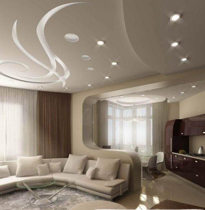 Многоуровневый потолок из гипсокартона с подсветкой (66 фото): дизайн разноуровневых конструкций, трехуровневые подвесные варианты