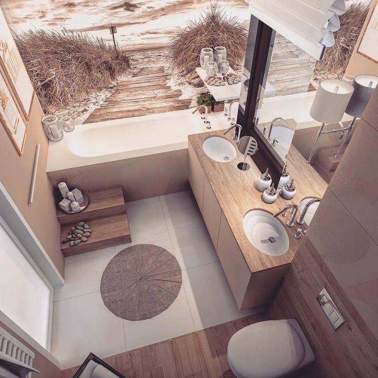 Каким может быть интерьер ванной комнаты совмещенной с туалетом