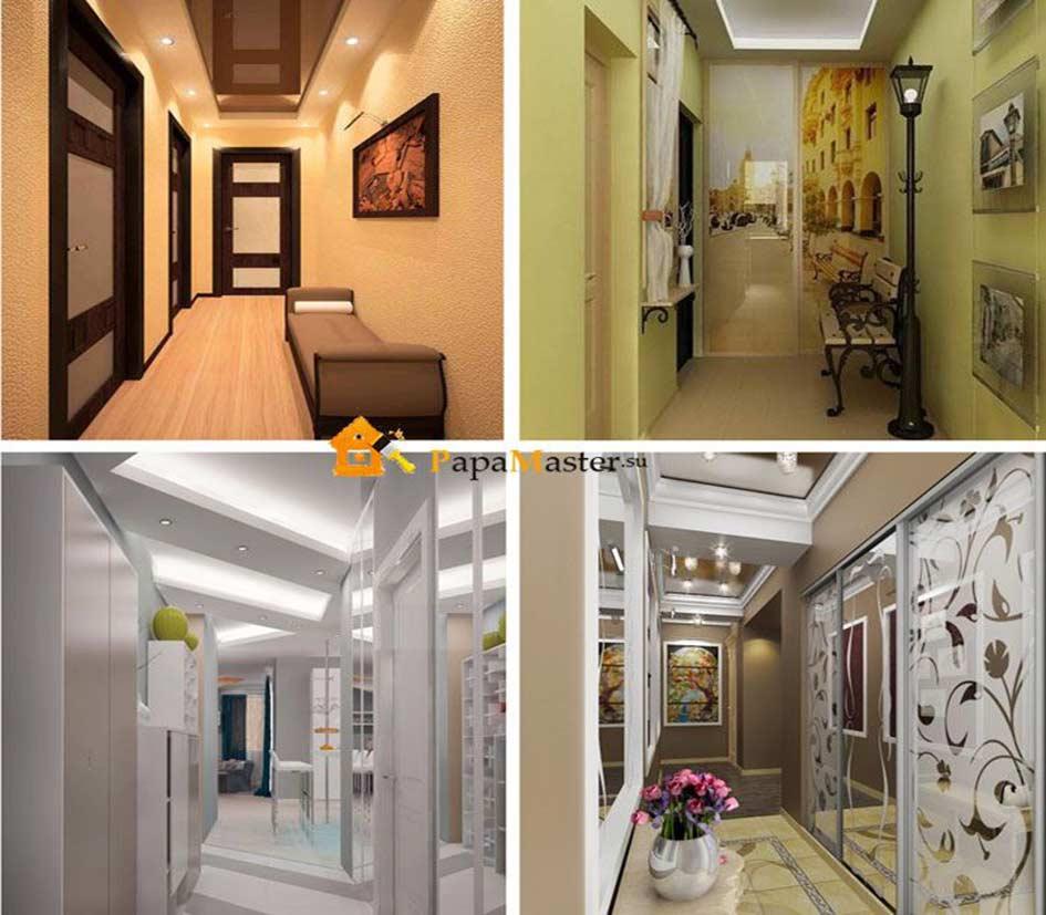 Как оформить дизайн узкого коридора – 28 фото с идеями