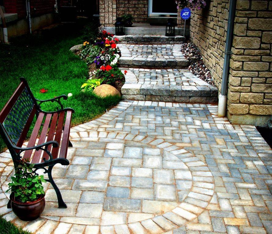 Применение плитки в дизайне двора частного дома