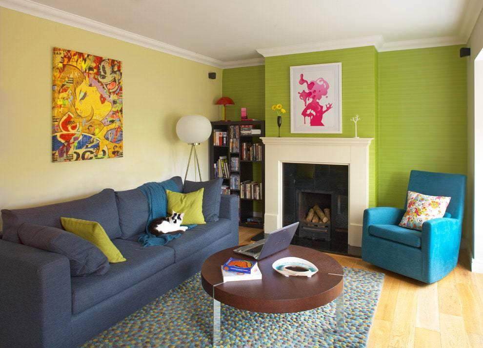Покраска стены в два цвета: разные идеи, как покрасить комнату или углы разными цветами, сочетание в дизайне двух и более красок на стену