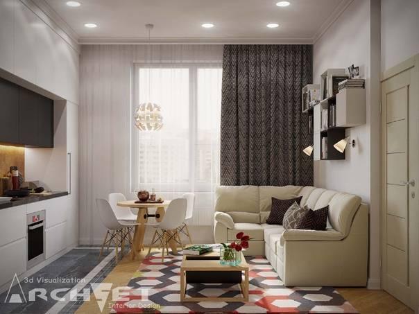 Кухня гостиная в хрущевке: объединяем два помещения и расширяем территорию