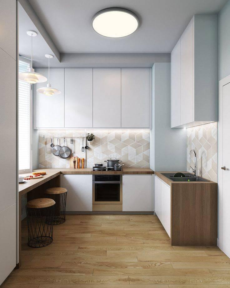 Дизайн маленькой кухни 4 кв м: фото с холодильником