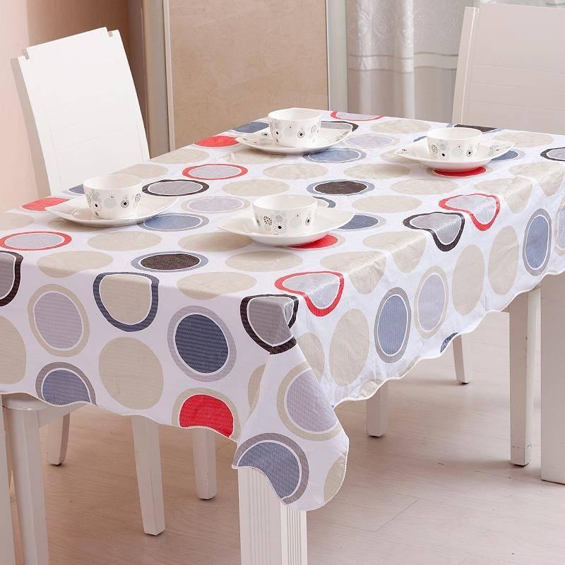 Круглая скатерть на стол для кухни: клеенчатаяна водоотталкивающая скатерть на кухонный стол