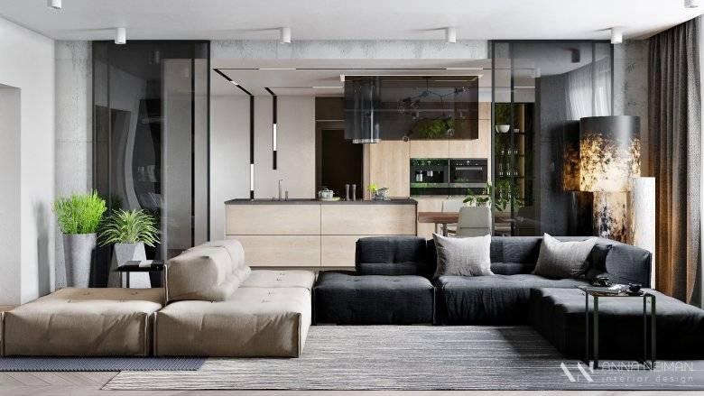 Стиль контемпорари в интерьере: кухня, гостиная, фото дизайнаv