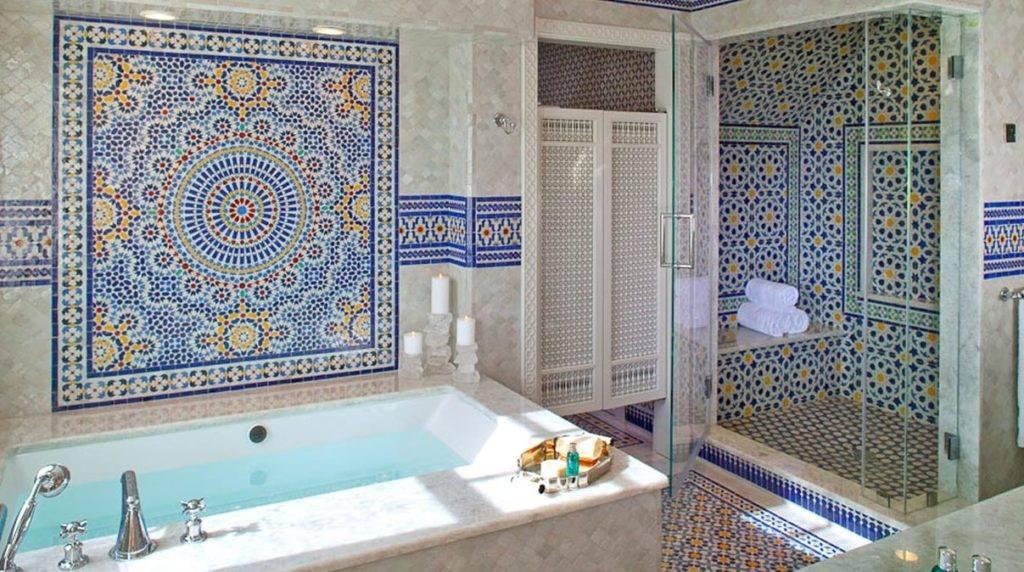 Многообразие арабских узоров в керамической плитки