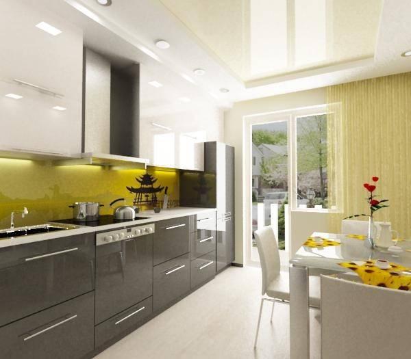 Дизайн кухни 11 кв м