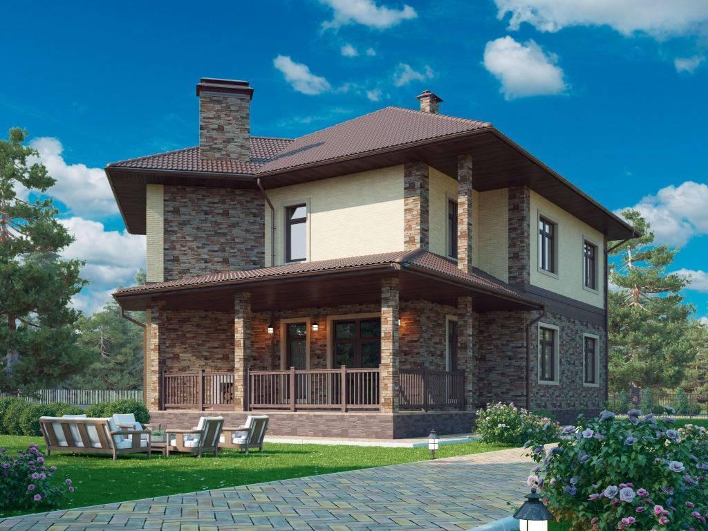 Фото двухэтажных домов с балконом [красивые фасады]