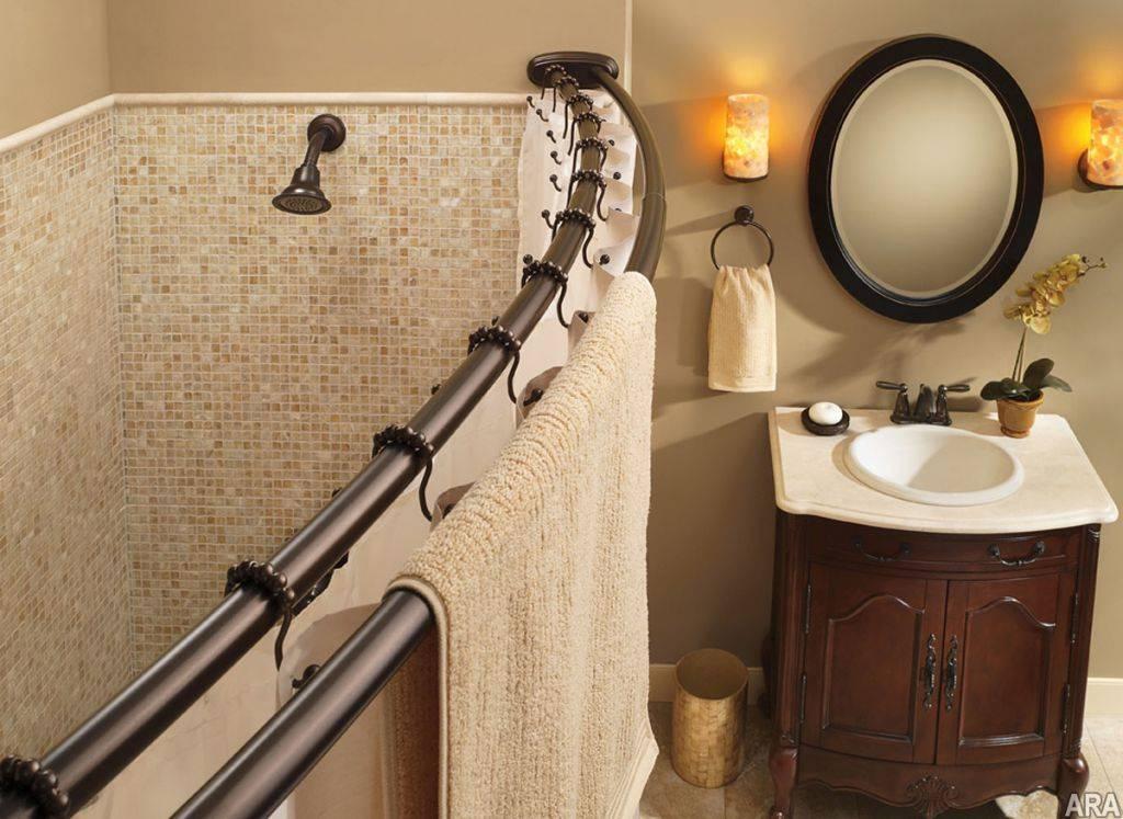 Карниз для ванной — угловая и прямая штанга для душа. 115 фото выбора и установки карниза
