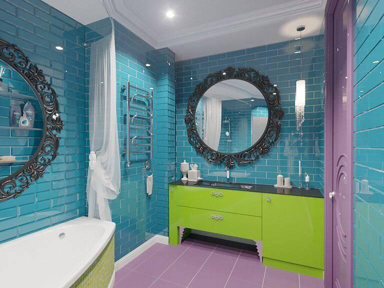 Керамическая плитка — каталог для ванной цвет бирюзовый