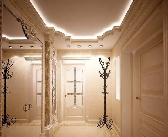 Потолок в прихожей - 70 фото примеров какой лучше дизайн выбрать