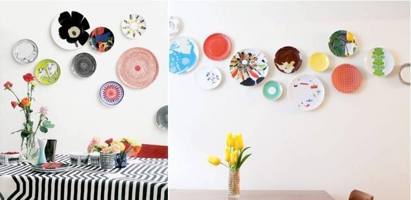 Украшаем стены декоративными тарелками +75 фото - «декор»