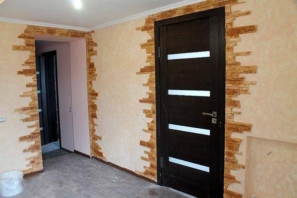 Отделка арок и дверных проемов декоративным камнем