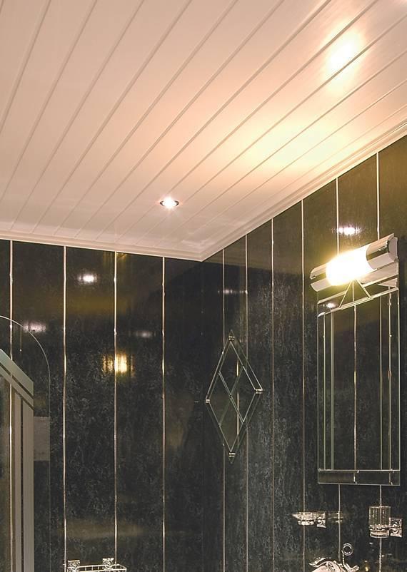 Панели на потолок в ванной комнате, преимущества пвх, подробное фото и видео