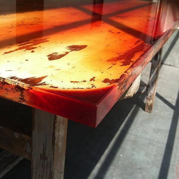 Как сделать стол из эпоксидной смолы: особенности изготовления - «декор» » «дизайна интерьера»