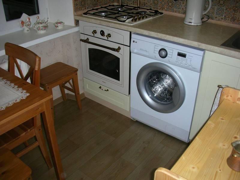 Стиральная машина на кухне: встраиваем технику в интерьер