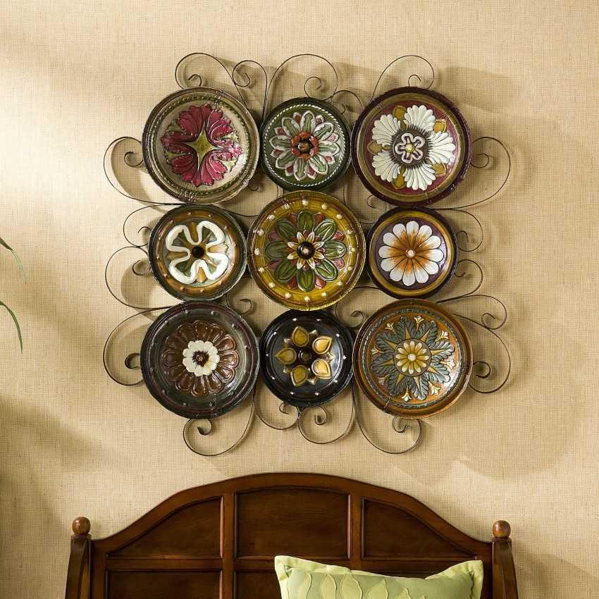 Декоративные тарелки на стену – преображаем стены! (30 фото)