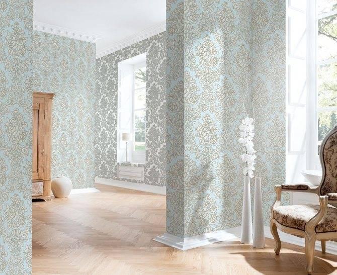 Применение обоев с узором дамаск в интерьере +75 фото идей - «декор» » «дизайна интерьера»