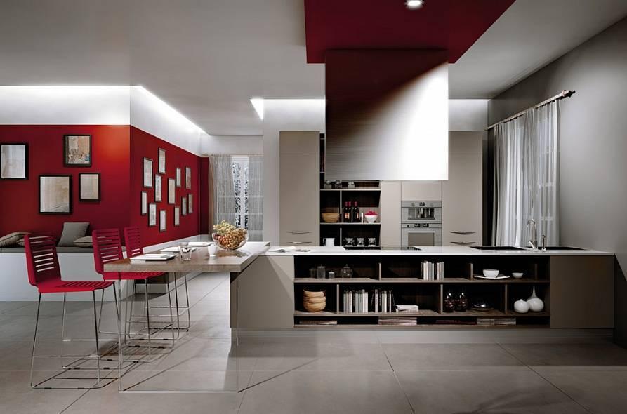 Стиль хай тек в дизайне кухни: правила оформления интерьера