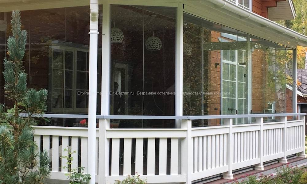 Безрамное остекление веранды и террасы: как все сделать своими руками, как оформить беседку на даче поликарбонатом и поставить раздвижное окно