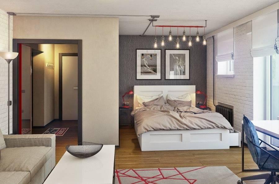 Зонирование однокомнатной квартиры на 62 стильных фото