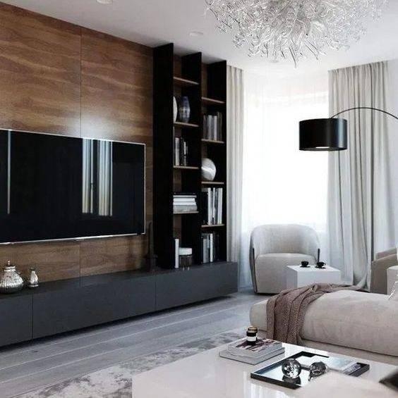 Гостиная с камином и телевизором (64 фото): варианты размещения электрокамина в интерьере маленького зала в квартире и загородном доме, варианты дизайн стен под камин и телевизор