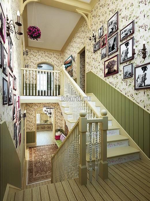 Дизайн прихожей с лестницей в частном доме