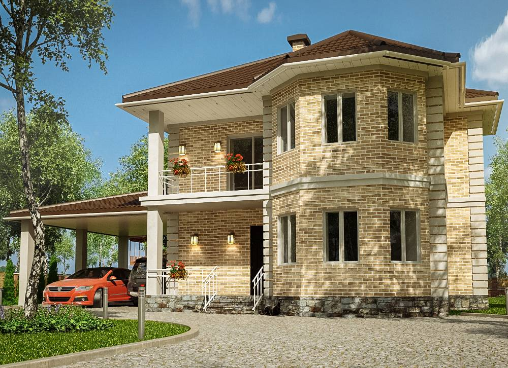 Проекты двухэтажных домов | примеры планировок двухэтажных коттеджей