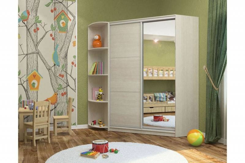 Шкаф-купе в детской комнате — решение многих задач