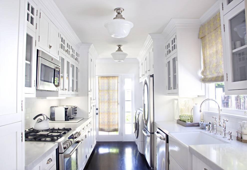 Дизайн узкой кухни (65 фото): красивые интерьеры, идеи ремонта и отделки