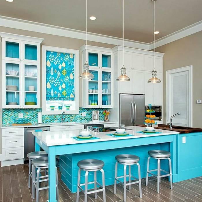 Синяя кухня: 100+ фото дизайна [лучшие интерьеры 2019]