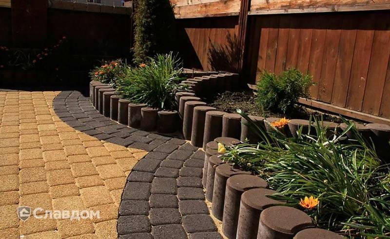 Красивая плитка во дворе частного дома: 100 фото дизайна