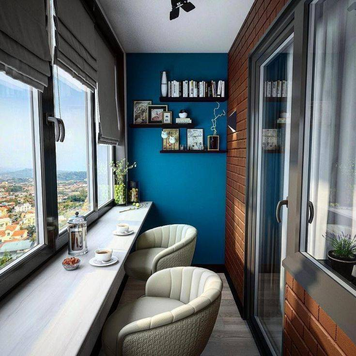 Балкон 4 кв. м. — варианты дизайна и особенности применения стиля для маленького балкона (100 фото)