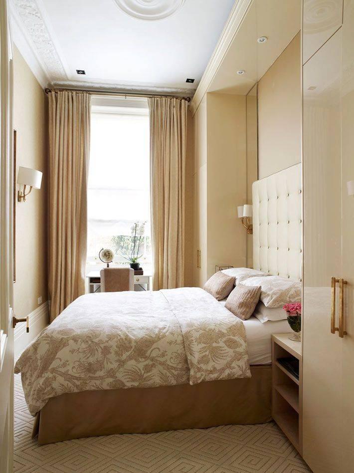 Спальни 7-8 кв. м (67 фото): дизайн спальни в современном стиле, интерьер спальни-гостиной 2 на 4 метра