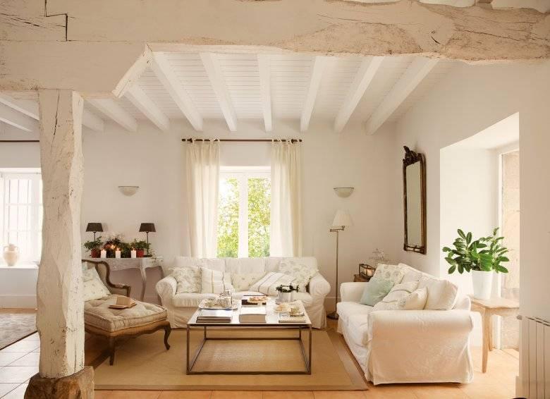 Декоративные балки на потолок: способы применения в интерьере