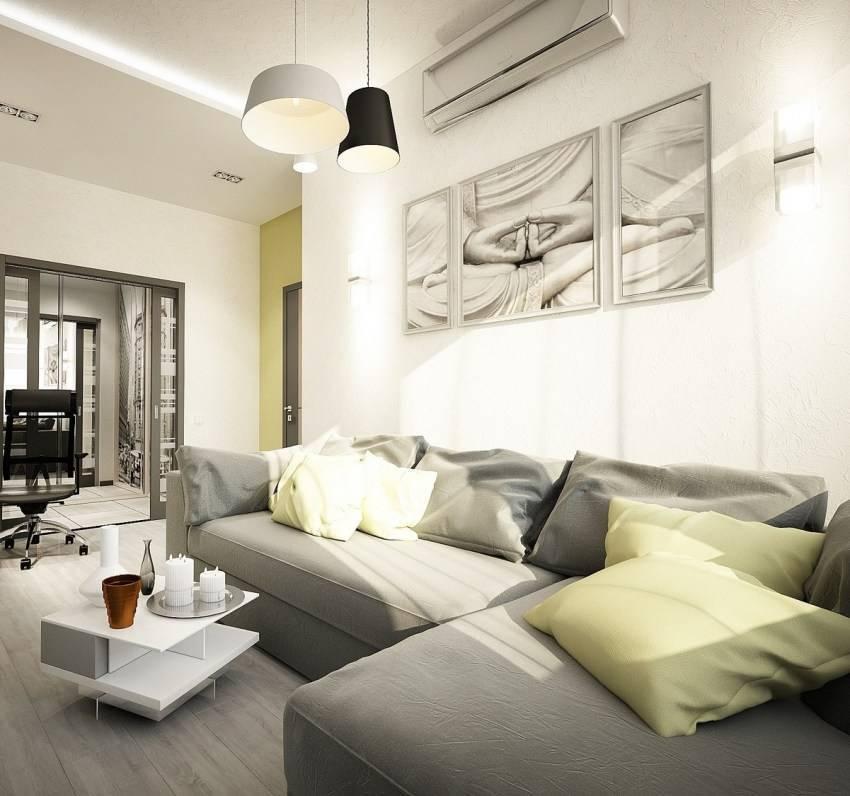 Квартира 65 кв.м: дизайн 2-комнатной, ремонт современной евротрешки, планировка двушки, варианты стилевого оформления интерьера, фото