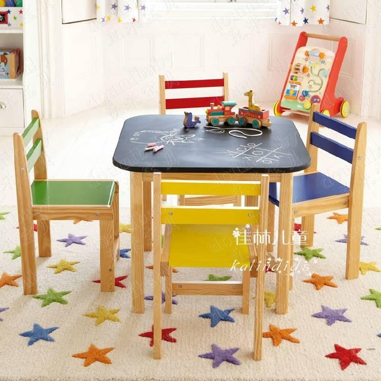 Деревянный детский стол: столик для ребенка ikea, модели из массива дерева с росписью «хохлома»