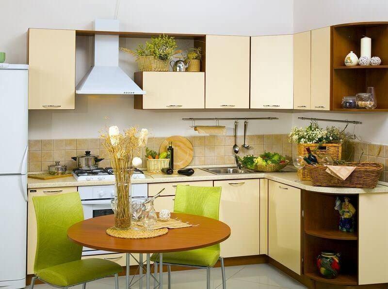 Варианты дизайна маленькой угловой кухни